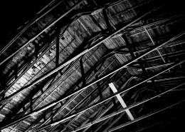 Dachstuhl einer alten Scheune