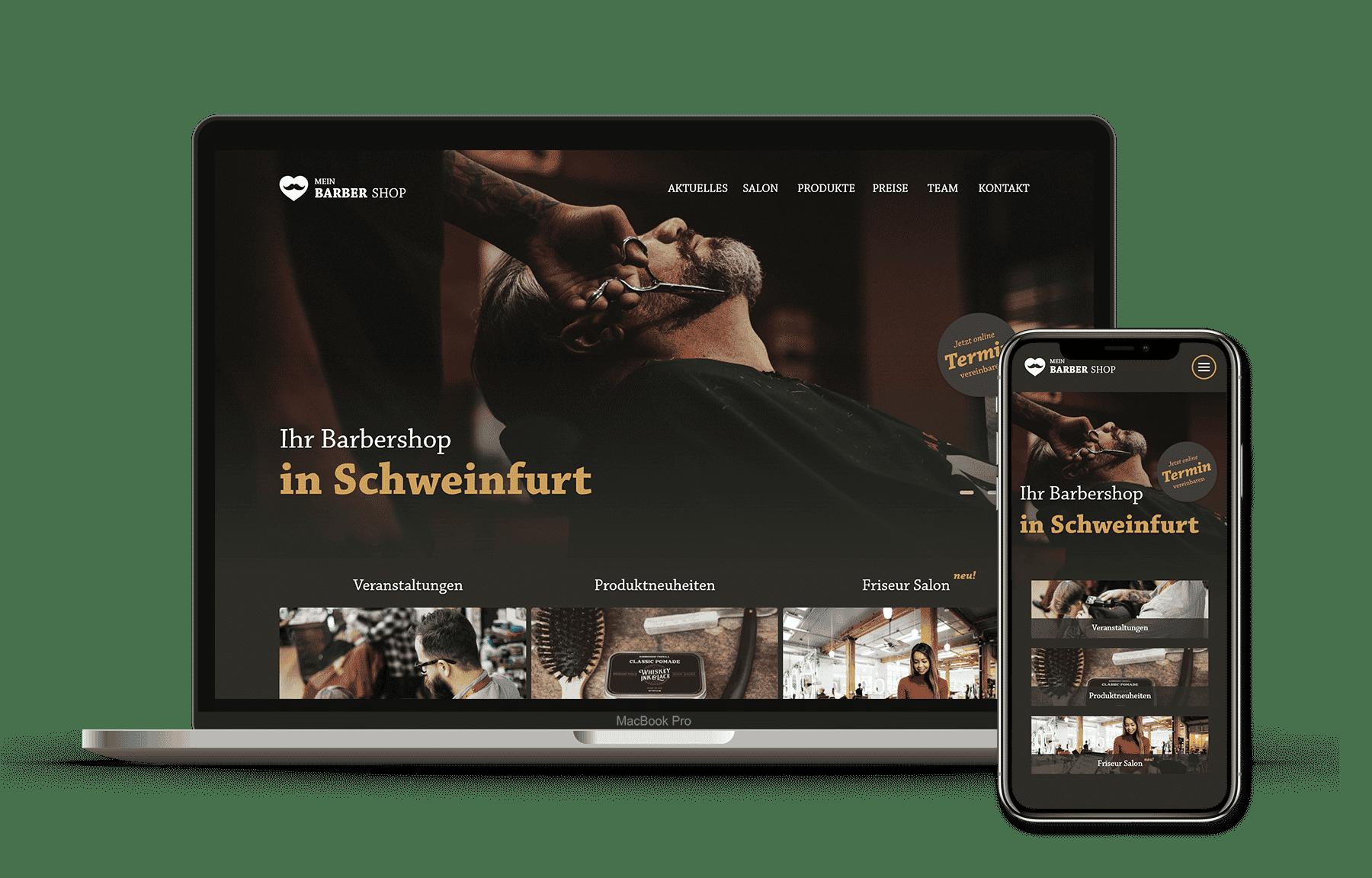 id23 Webdesign - Beispiel Friseur Website
