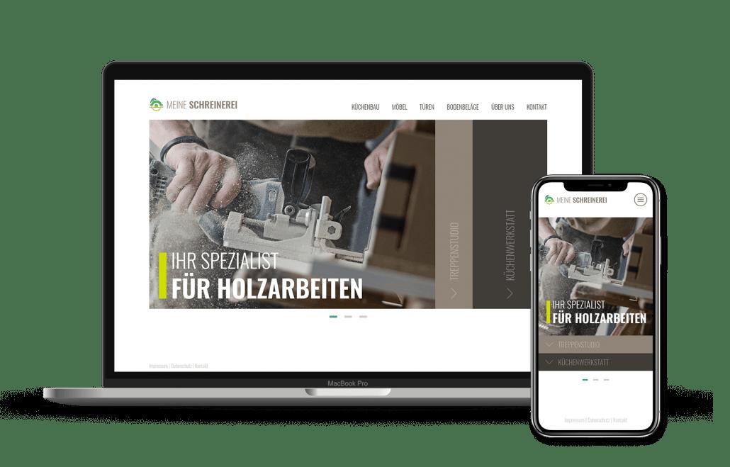 id23 Webdesign - Beispiel Schreinerei