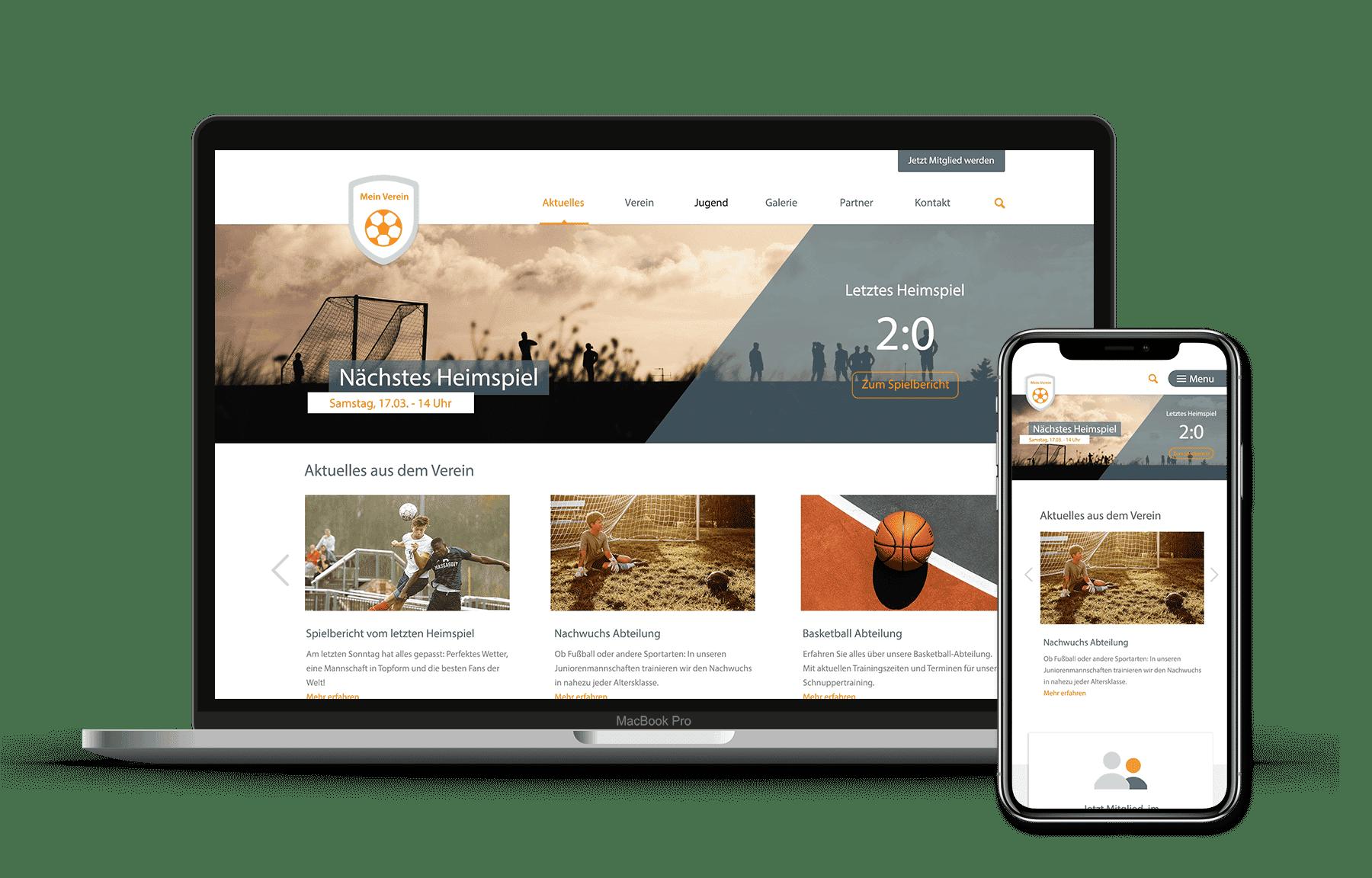 id23 Webdesign - Beispiel Vereinswebsite
